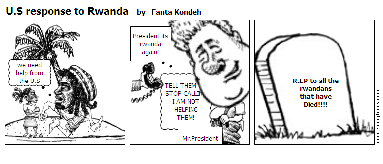 U.S response to Rwanda by Fanta Kondeh