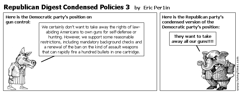 Republican Digest Condensed Policies 3 by Eric Per1in