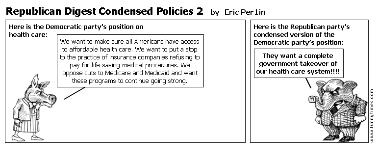 Republican Digest Condensed Policies 2 by Eric Per1in