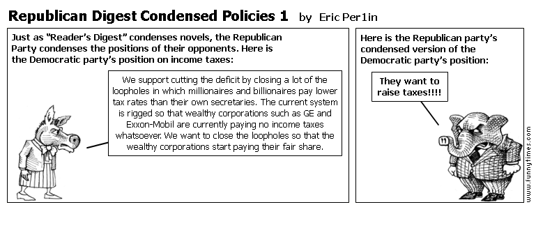 Republican Digest Condensed Policies 1 by Eric Per1in