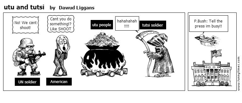 utu and tutsi by Dawud Liggans