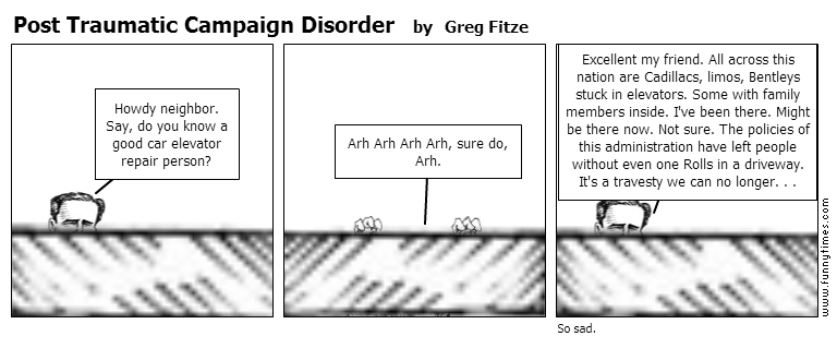 Post Traumatic Campaign Disorder by Greg Fitze