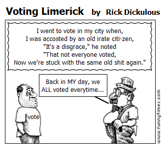 Voting Limerick by Rick Dickulous