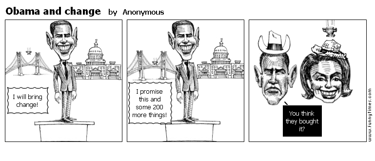 Obama and change by Anonymous