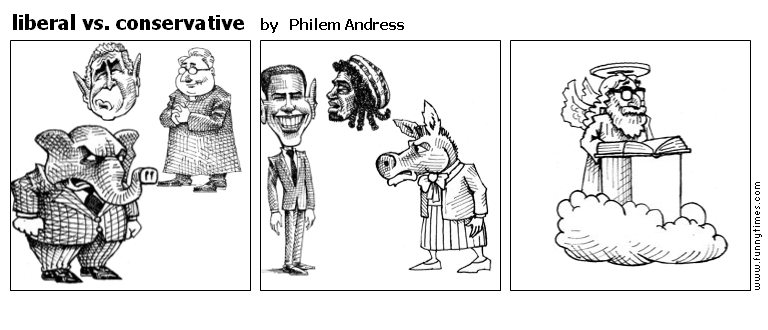 liberal vs. conservative by Philem Andress