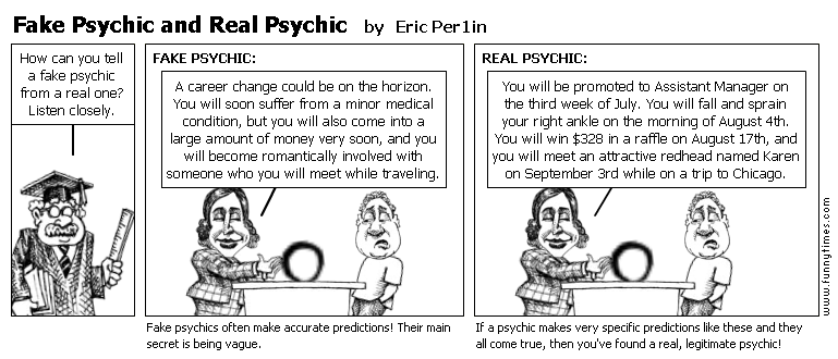 Fake Psychic and Real Psychic by Eric Per1in