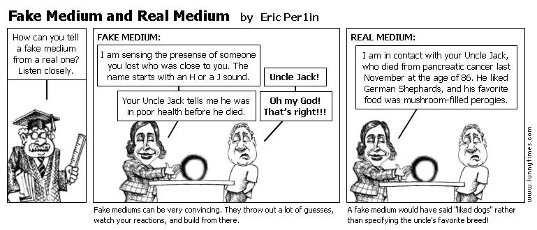 Fake Medium and Real Medium by Eric Per1in