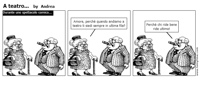 A teatro... by Andrea