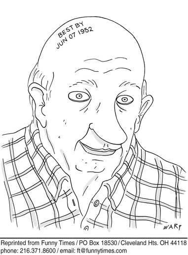 Funny tattoo warp aging cartoon, March 20, 2013