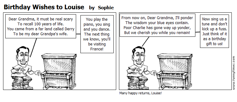 Birthday Wishes to Louise by Sophie