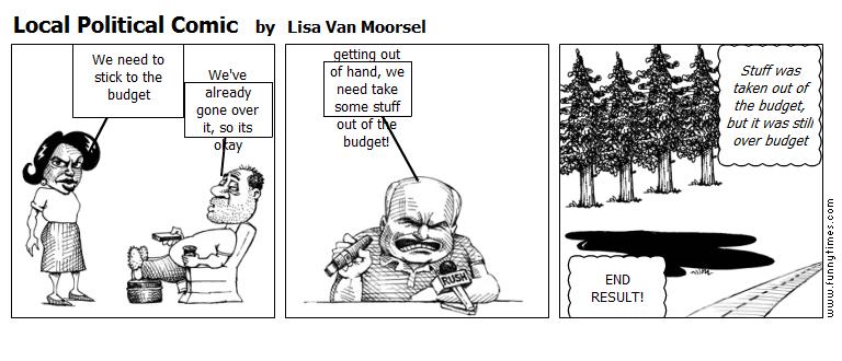 Local Political Comic by Lisa Van Moorsel