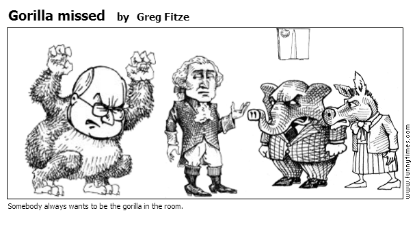 Gorilla missed by Greg Fitze