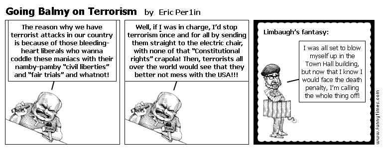 Going Balmy on Terrorism by Eric Per1in