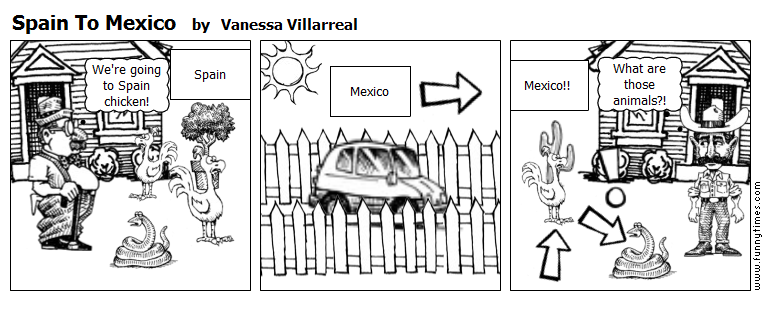 Spain To Mexico by Vanessa Villarreal