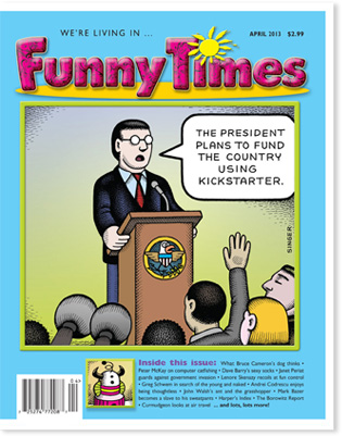Funny Times April 2013 issue cover