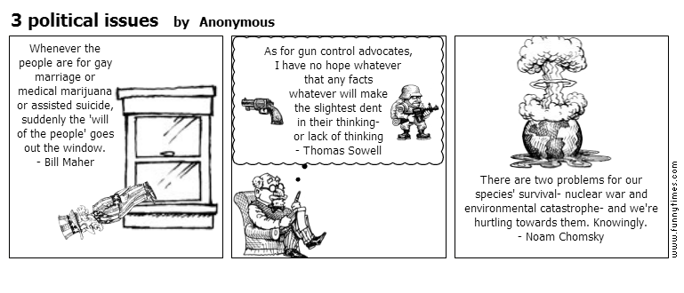 3 political issues by Anonymous