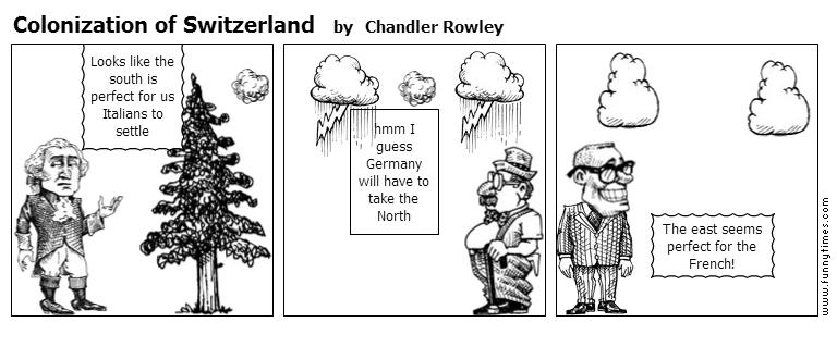 Colonization of Switzerland by Chandler Rowley