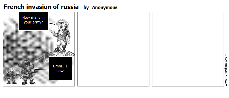 French invasion of russia by Anonymous