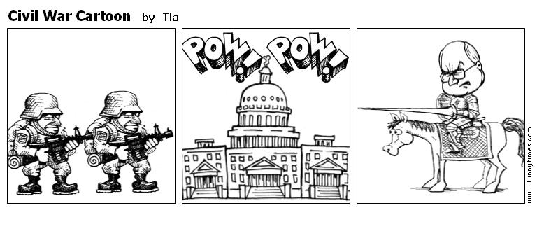 Civil War Cartoon by Tia