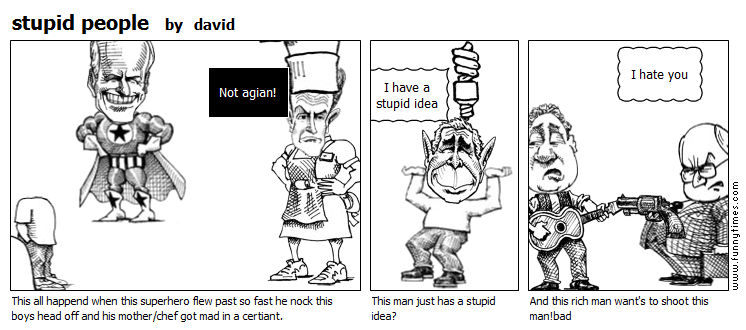stupid people by david