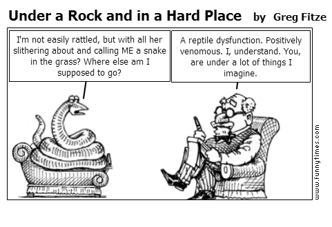 Under a Rock and in a Hard Place by Greg Fitze