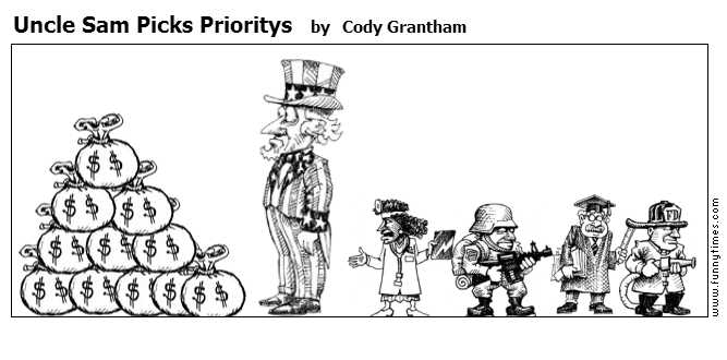 Uncle Sam Picks Prioritys by Cody Grantham