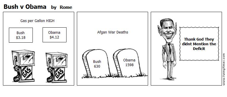 Bush v Obama by Rome