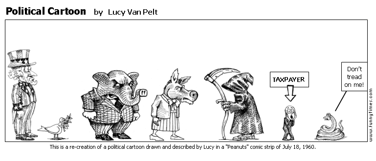 Political Cartoon by Lucy Van Pelt