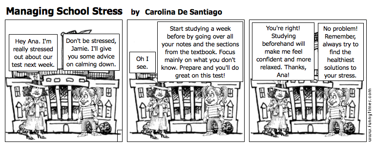 Managing School Stress by Carolina De Santiago