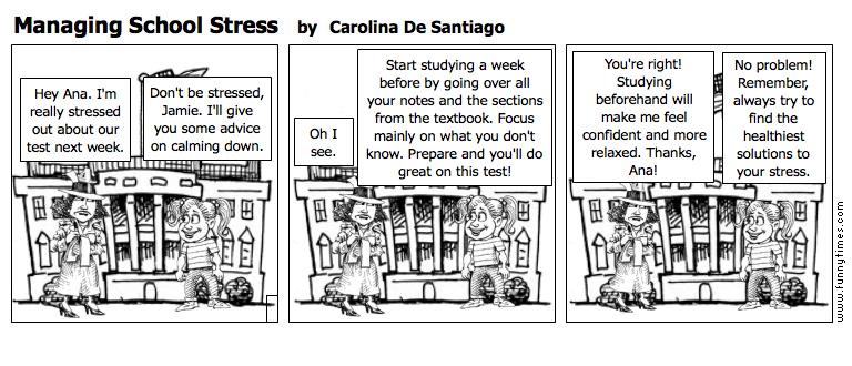 Managing School Stress by Carolina De Santiago