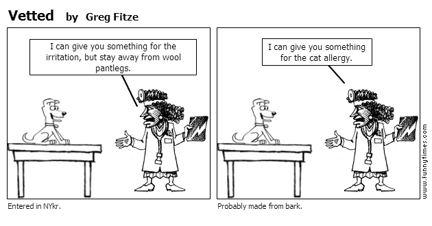 Vetted by Greg Fitze