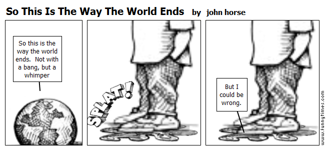 So This Is The Way The World Ends by john horse