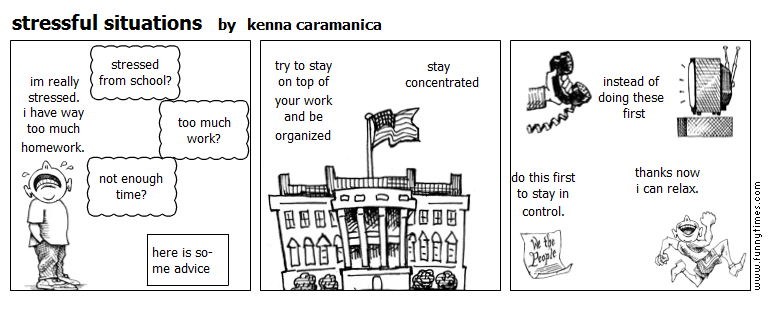 stressful situations by kenna caramanica