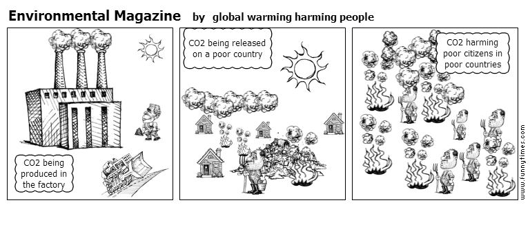 Environmental Magazine by global warming harming people
