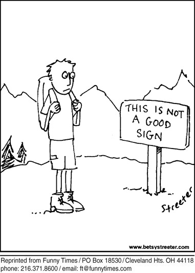 Funny streeter travel sign cartoon, June 19, 2013