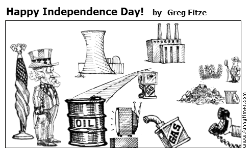 Happy Independence Day by Greg Fitze