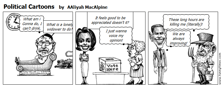 Political Cartoons by AAliyah MacAlpine