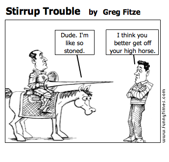 Stirrup Trouble by Greg Fitze