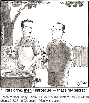 Funny barbecue bliss alcohol  cartoon, July 03, 2013