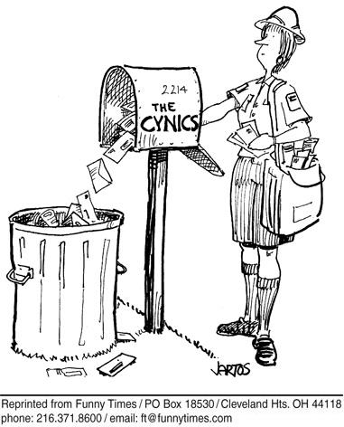 Funny mail jartos cynical  cartoon, July 10, 2013