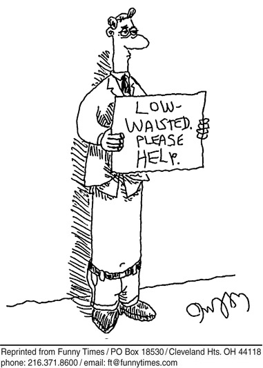 Funny begging waist panhandling  cartoon, July 24, 2013