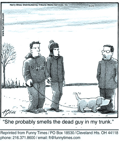 Funny dog crime mafia cartoon, July 31, 2013