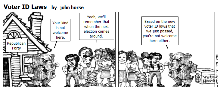 Voter ID Laws by john horse