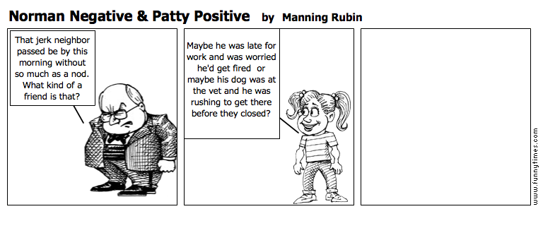 Norman Negative  Patty Positive by Manning Rubin