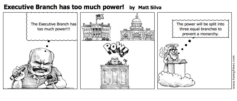 Executive Branch has too much power by Matt Silva