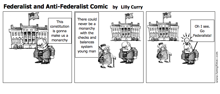 Federalist and Anti-Federalist Comic by Lilly Curry