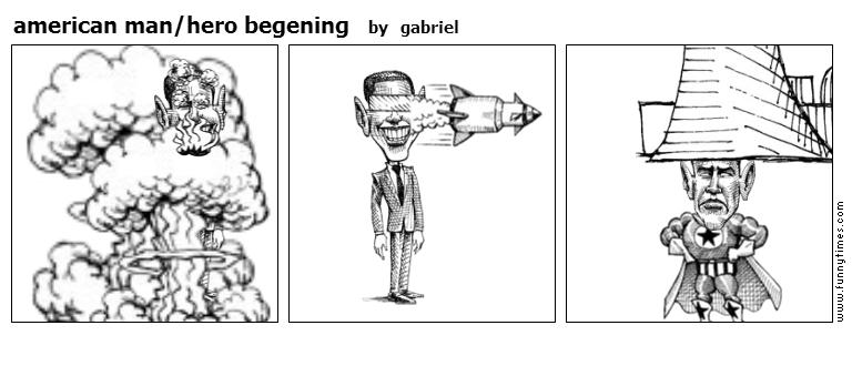 american manhero begening by gabriel