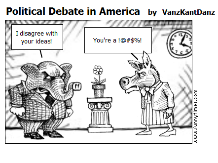 Political Debate in America by VanzKantDanz