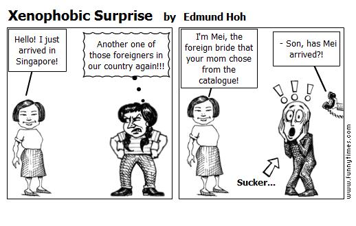 Xenophobic Surprise by Edmund Hoh
