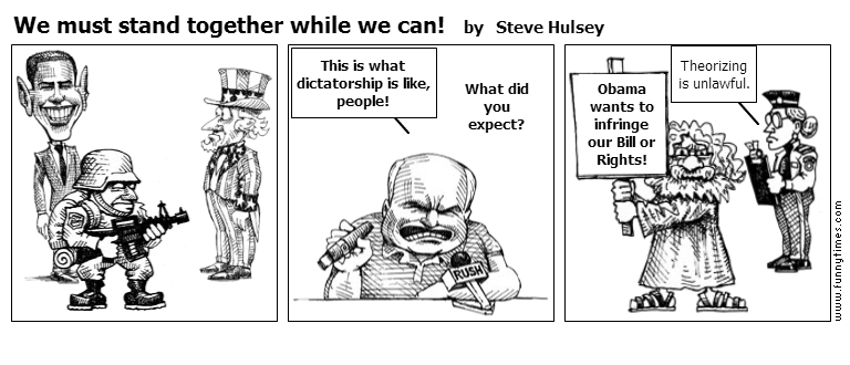 We must stand together while we can by Steve Hulsey